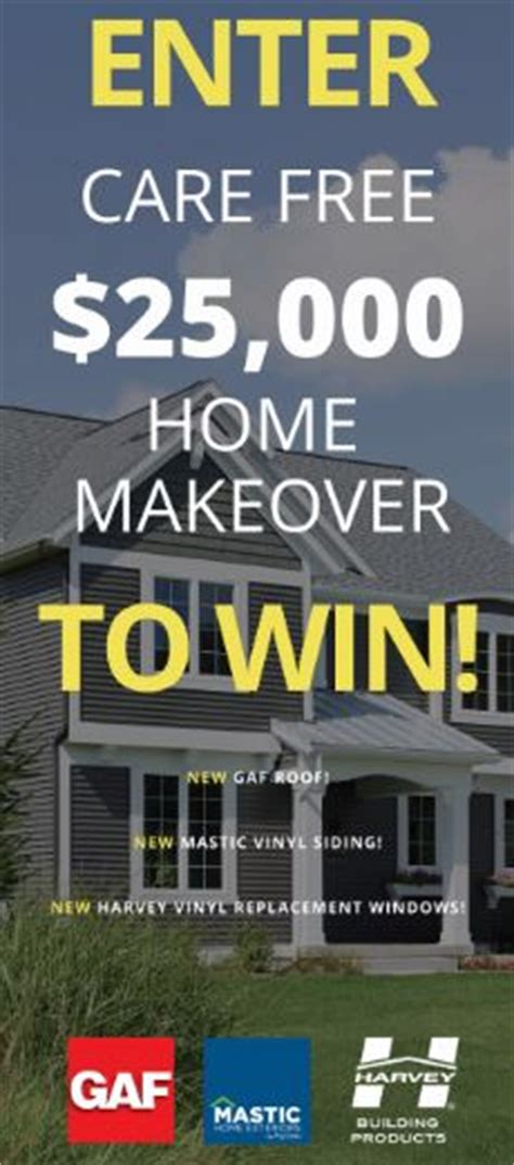 Free Home Makeover Sweepstakes - visit us at the plymouth home show february 28 march 1st contractor cape cod ma ri