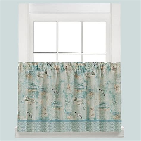 24 Inch Tier Curtains Buy High Tide 24 Inch Kitchen Window Curtain Tier Pair From Bed Bath Beyond