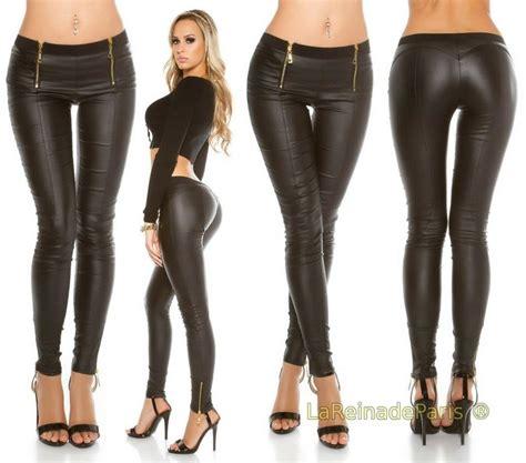 pantalones cuero comprar pantalones de cuero con cremalleras