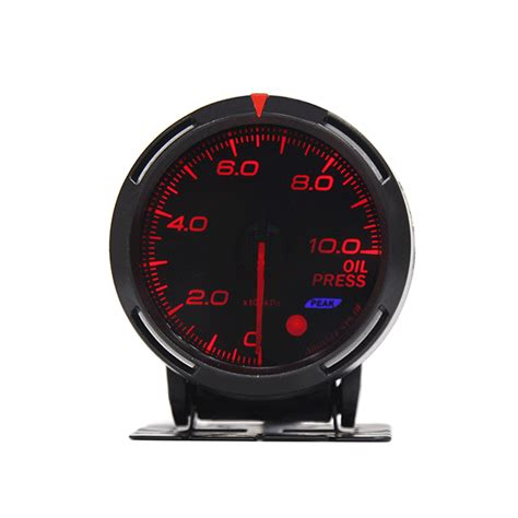 Greedy Indicator Voltwater T Vacuumoil Temp 60mm led car boost water temp pressure tachometer volt vacuum meter ebay