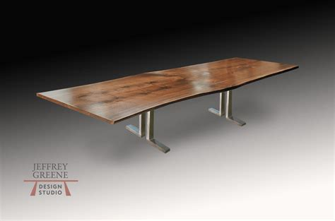 Live Edge Conference Table L Live Edge Conference Table Jeffrey Greene