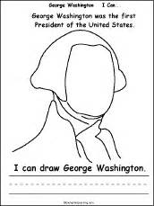 george washington i can a printable book draw george