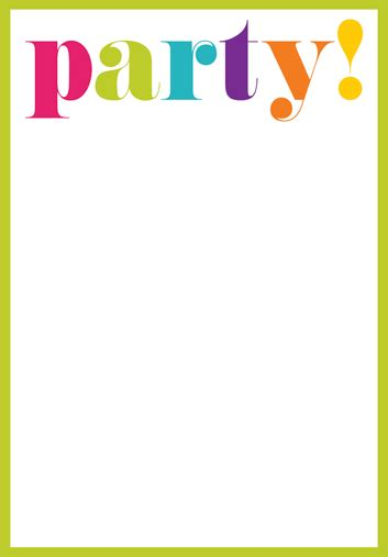 Blank Party Invitations Theruntime Com Blank Birthday Invitation Template