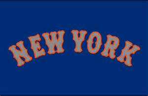New york mets jersey logo 2014 new york arched in grey with orange