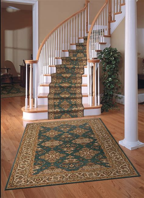 Stair Runner Rug Palace Garden Pg 01 Teal Carpet Stair Runner
