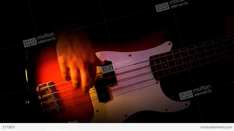 Background Recording Bass Player Black Background Recording Studio Stock Footage 2173831