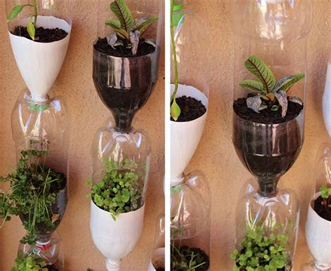 recycled plastic bottles   planters love