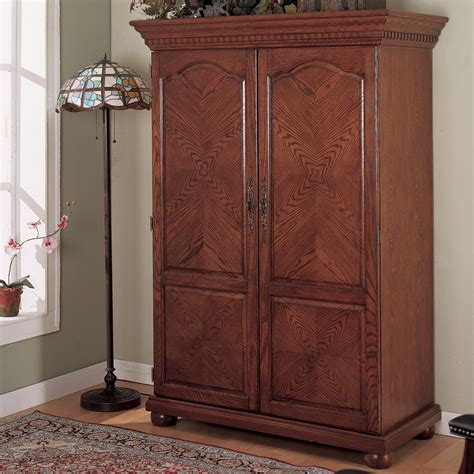 computer armoire traditional oak at hayneedle