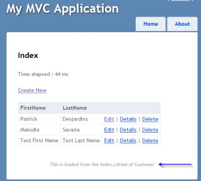 asp net mvc section asp net mvc sections are on the fly partial defined by