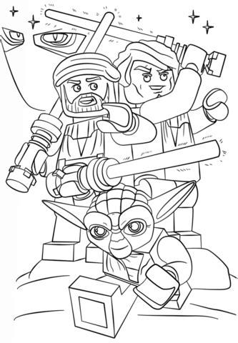 lego wars clone wars coloring page free printable