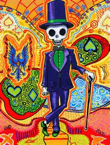 Skull Bedroom Decor Trippy Skeleton Art Print Halloween Decor Psychedelic Gothic