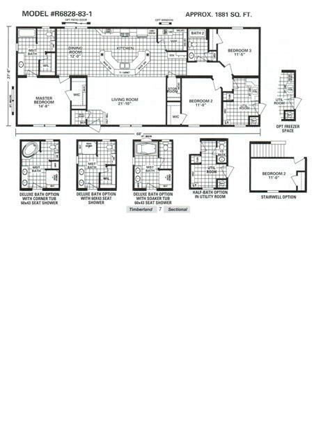schult floor plans schult timberland 6828 83 1 modular manufactured home
