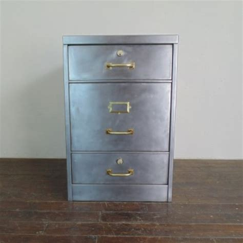 Vintage Filing Cabinet Vintage Stripped Steel Filing Cabinet With Brass Fittings Lovely And Company