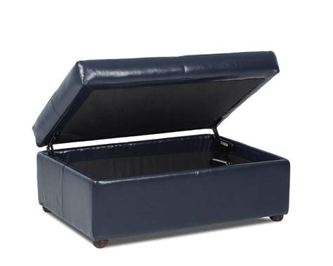 American Made Leather Storage Ottoman April Cl27