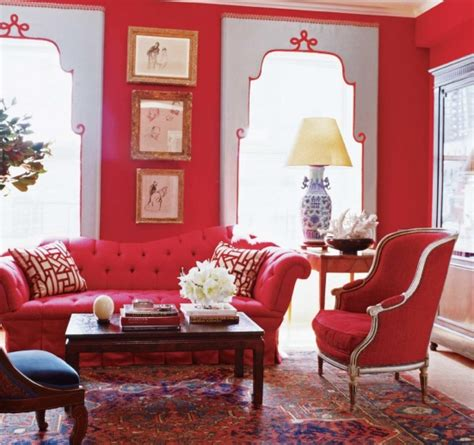red furniture ideas color decorating ideas for living rooms with red house