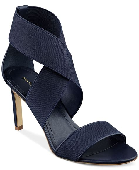 dress sandals lyst marc fisher dress sandals in blue
