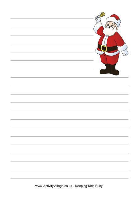 printable writing paper christmas father christmas writing paper