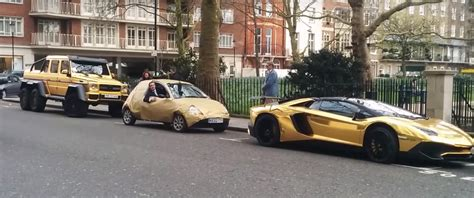 real gold cars fake gold ford ka trolls arab gold wrap g63 amg aventador