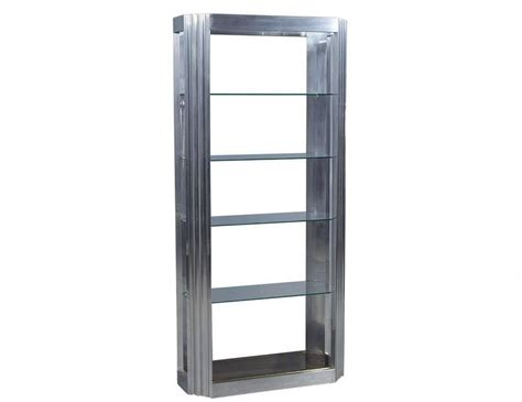 Etagere Real by Vintage Fluted Column Chrome And Glass 201 Tag 232 Re For Sale At