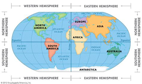 blank map of the 4 hemispheres