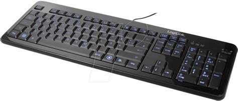 Keyboard Elektronik logilink id0080 keyboard 194 usb 194 black 194 illuminated at reichelt elektronik