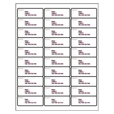 Filing Label 30 Per Sheet Template