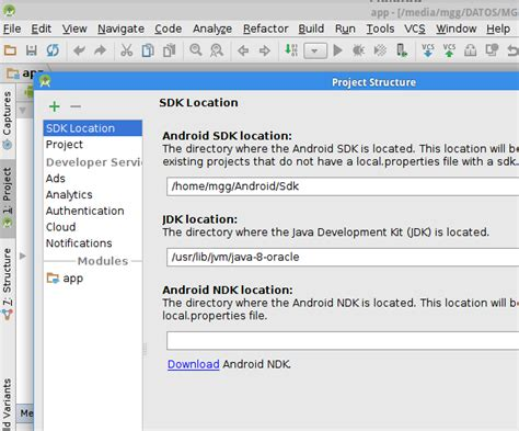 android studio sdk location i just installed android studio and created a new project it always came up with error with
