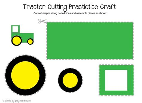 tractor cut out templates 25 best ideas about letter t activities on