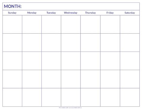 printable fill in monthly calendar 1000 ideas about blank calendar on pinterest blank