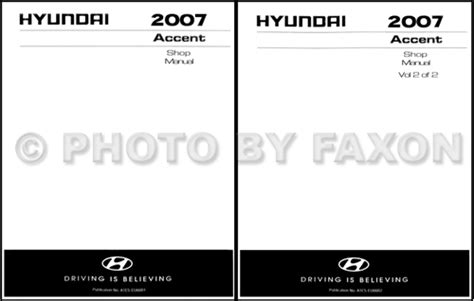 1998 hyundai accent original shop manual set l gs gl ebay 2007 hyundai accent electrical troubleshooting manual original