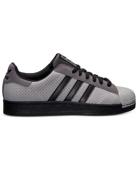 adidas s superstar 2 casual sneakers from finish line in gray for lyst