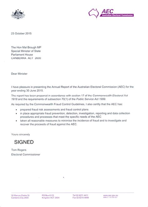 apra annual report 2015 16 letter of transmittal