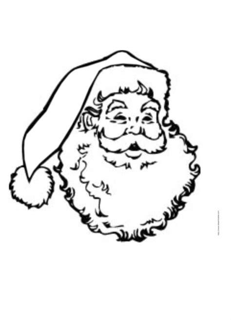Coloriage de la tête du Père Noël dessin 40 - Coloriage Noël