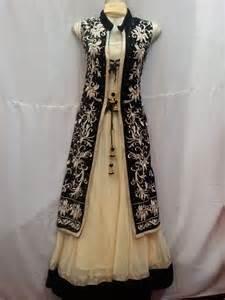 long amp short jacket style anarkali dresses designing ideas