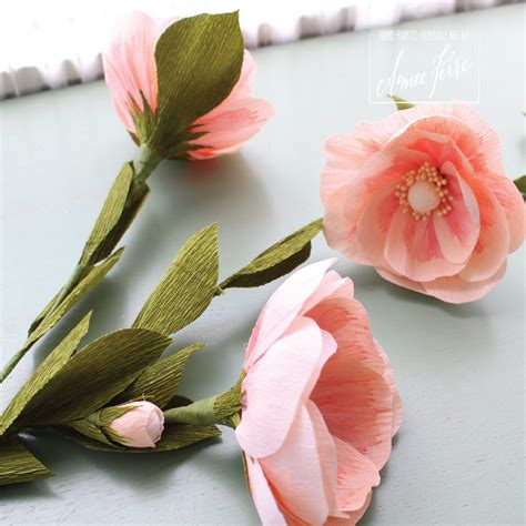 Crepe Paper Flower - heirloom crepe paper flower roses diy aimee ferre