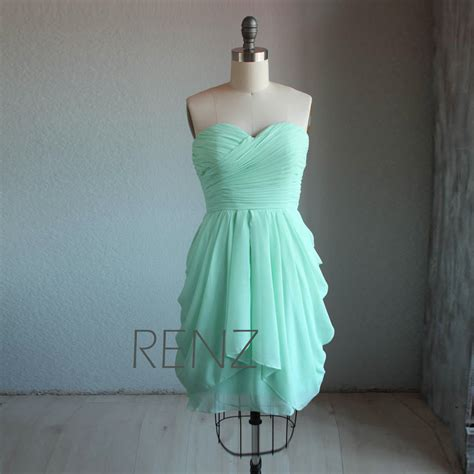 Mint Bridesmaid Dress by Bright Mint Bridesmaid Dress Wedding Dress Strapless