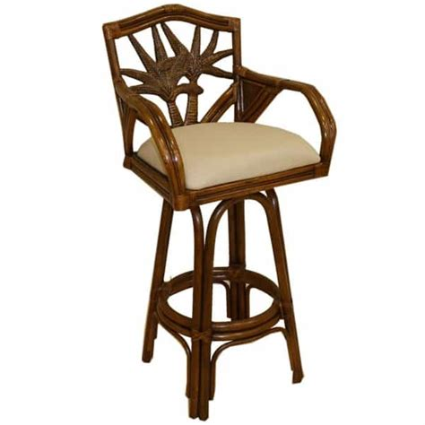 havana bar stool havana palm swivel bar stool by pelican reef bar stools