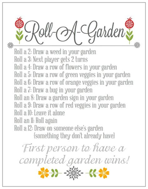 printable word games elderly blissful roots roll a garden game printable