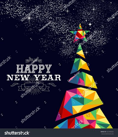 new year greeting posters happy new year greeting card poster stock illustration