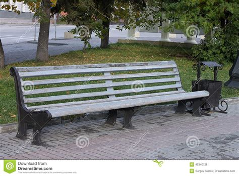 beautiful bench a beautiful bench in autumn park stock photo image 45340128
