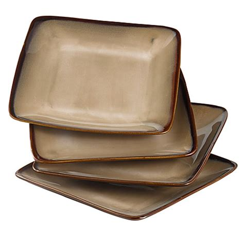 nova brown canisters set of 4 bed bath beyond nova brown 7 1 2 inch square salad plates set of 4 bed