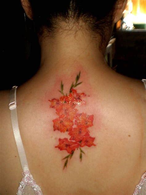 august birth flower tattoo 25 best ideas about gladiolus flower tattoos on