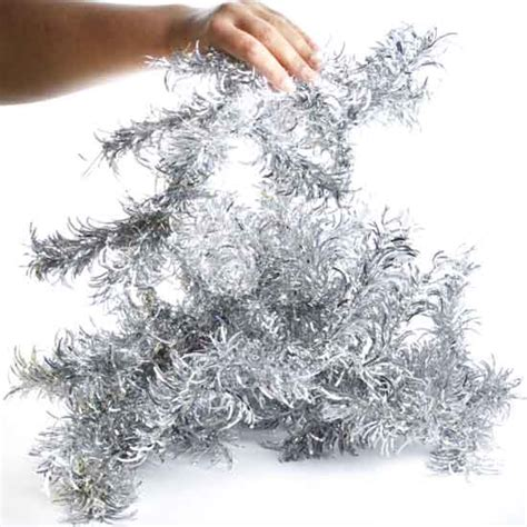 silver curvy wired tinsel garland christmas garlands