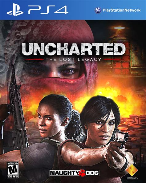 Kaset Ps4 Uncharted The Lost Legacy uncharted the lost legacy ps4 cover by domestrialization on deviantart