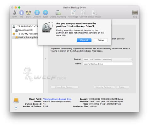 format hard drive mac os x how to erase change format of usb external hard drive