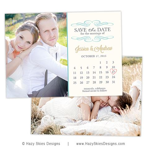 save the date card template calendar