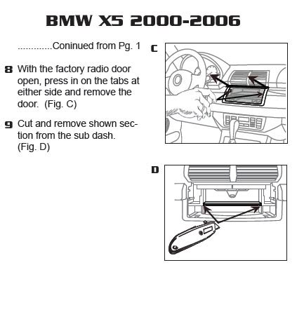 bmw xinstallation instructions