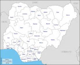 Map Of Nigeria States by Nigeria Free Map Free Blank Map Free Outline Map Free