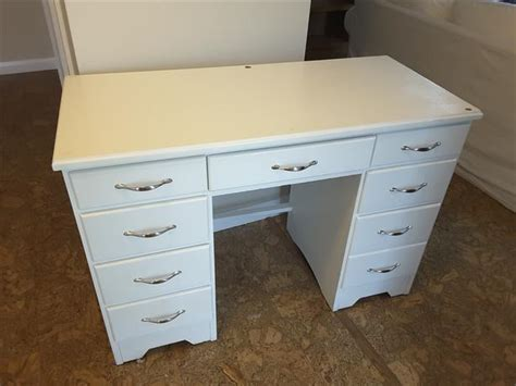 free solid wood desk painted white saanich sidney