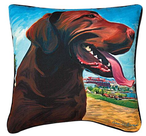 artistic pillows chocolate labrador artistic throw pillow 18x18 quot